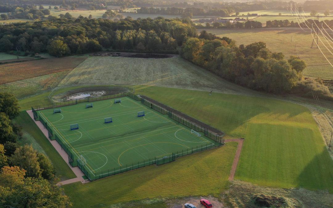 Full size hockey pitch for Daneshill School